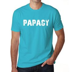 PAPACY Men's Short Sleeve Rounded Neck T-shirt