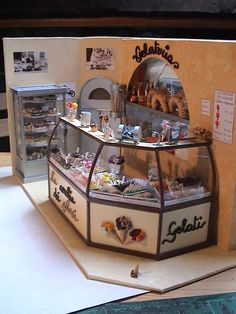 Ice-cream shop  http://www.minipottery.it/miniature.htm follow link for more pictures
