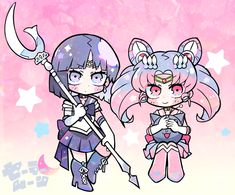 セーラームーン Sailor Moon, Sailor Saturn, Cute Kawaii Girl, Kawaii Art, Kawaii Anime, Anime Child, Anime Art Girl, Cartoon Drawings, Cute Drawings