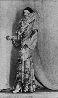 """Robe de Diner 1930   Les Modes (Paris) 1930 """"La Source"""" Robe de Diner. Creation de Boue Soeurs"""