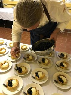 Executive Chef Josh Drage plates Meyer lemon tarts during a Relais & Châteaux GourmetFest event at Georis Winery. Executive Chef Josh Drage and Executive Sous Chef Ben Miller created two dishes for the multi-course tasting menu.