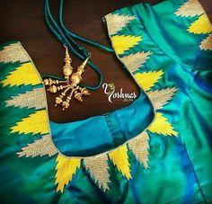 Hand Work Blouse Design, Simple Blouse Designs, Stylish Blouse Design, Simple Designs, Wedding Saree Blouse Designs, Saree Blouse Neck Designs, Embroidery Neck Designs, Aari Embroidery, Designer Blouse Patterns