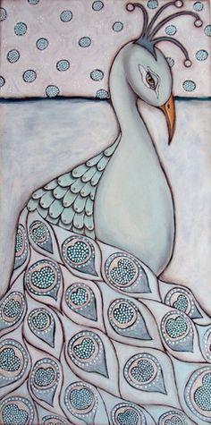 Peacock - Mixed media art