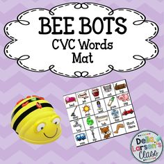 This product is designed to be used with a programmable BEE BOT robot. The product includes 38 CVC picture cards that should be cut out and made into a BEE BOT mat. 19 squares have words and 19 squares do not have words There are 19matching picture cards and 19 word cards. Students will pick a card and then program the Bee-Bot to go to matching picture on the mat.