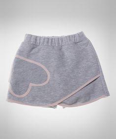 Look at this #zulilyfind! Melange Gray Heart Asymmetrical Shorts - Toddler & Girls #zulilyfinds