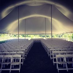 Beautiful interior on this large graduation ceremony tent. And the chairs installation was spot on & Tents Unlimited (tentsunlimited) on Pinterest