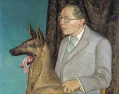 """""""Hugo Erfurth mit Hund"""" von Otto Dix We Say Woof"""