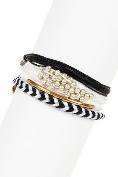 Black & White Assorted String Bracelet Set by Pura Vida on @HauteLook