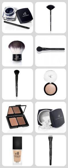 Basic drugstore make-up kit.