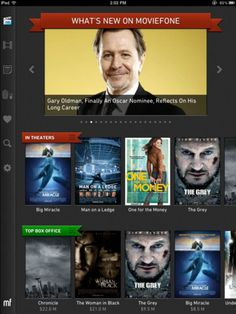 Moviefone iPad App! Find showtimes, watch movie trailers and exclusive movie clips, get the latest movie news and purchase tickets right from the app. You can also use AirPlay support to stream videos straight to your Apple TV.