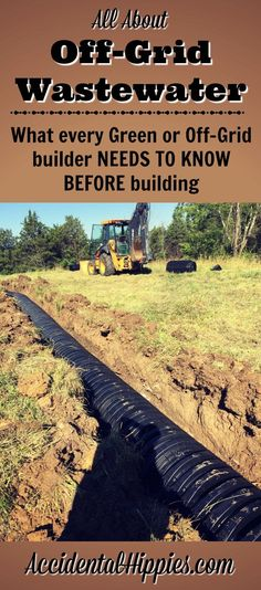 Dealing with wastewater isn't a pretty subject, but it's one of the most important things to consider when building an off-grid or green home. Find out your options (plus the one thing that might surprise you) Homestead Survival, Survival Prepping, Survival Skills, Emergency Preparedness, Off Grid Survival, Survival Shelter, Wilderness Survival, Survival Gear, Off Grid Solar