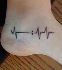 Resultado de imagen de semicolon tattoo