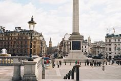 Trafalgar Square. London, England. <3