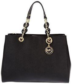 4ea63413b533 hot top handle bags michael kors cynthia medium leather satchel in black  04f18 dd784