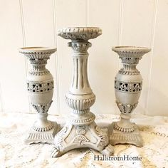French Candle holders Set of 3 - Hallstrom Home - 1