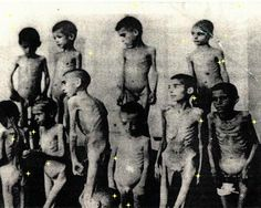 Romani children in Auschwitz, selected for medical experiments.