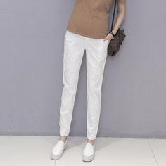 Nuevo maternidad Blanco cropped Jeans Tallas 10,12,14,16 Ideal Para Verano