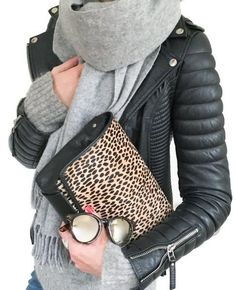 Love everything about this. The jacket and the clutch are the my faves tho.
