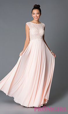 Blush Prom Dress. Long Cap Sleeve JVN by Jovani Dress JO-JVN-JVN33472 at PromGirl.com