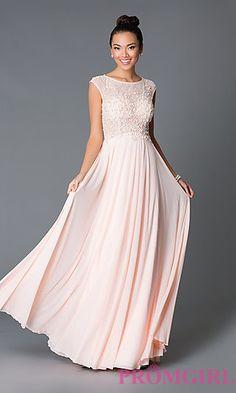 Blush Prom Dress. Long Cap Sleeve JVN by Jovani Dress JO-JVN-JVN33472 at PromGirl.com