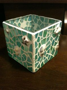 DIY Mosaic Candle Holders