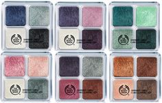 The Body Shop Shimmer Cubes!! Have em' all, love the colors!!