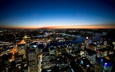 """Fading Night in Sydney"" -- #wallpaper by ""Dominic Kamp"" from http://interfacelift.com -- Taken from the panoramic platform of the Sydney Centre Point Tower in Sydney, Australia.    Nikon D800, Nikon AF-S NIKKOR 14-24mm f/2.8G ED.  Shot at f/2.8 and ISO 200. -- Available as #wallpapers in any resolution at: http://interfacelift.com/wallpaper/details/2958/fading_night_in_sydney.html"