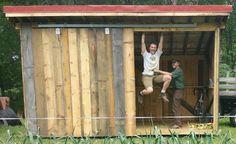 Build a Portable Rough-Sawn Shed