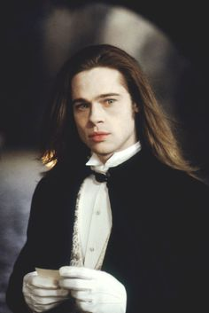 Louis de Pointe du Lac - Most Handsome Vampires - Interview With The Vampire - Brad Pitt Brad Pitt Vampire, Vampire Love, Vampire Art, Anne Rice, Vampire Diaries, Lestat And Louis, Queen Of The Damned, The Vampire Chronicles, Interview With The Vampire