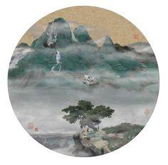 chinese mountain painting Yao Lu