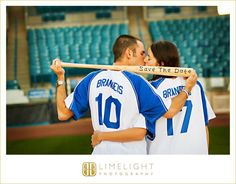 STEINBRENNER FIELD, Tampa, FL, Engagement Session, Limelight Photography, www.stepintothelimelight.com, portrait, couple, baseball, yankees, theme, photos, save the date, kiss,