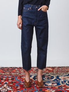 Chimala, Rinse Wide Tapered Cut Denim