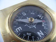 Kompass Nautika & Maritimes Technik & Instrumente Messing Holz