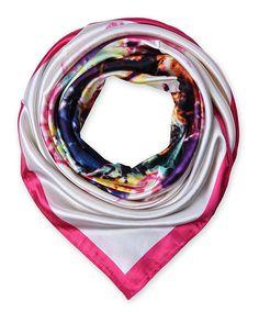 corciova Women's Graphic Print Silk Feeling Square Scarf Neckerchief 35x35 Inches Bright Pink $9.99Free Shipping @Amazon.com