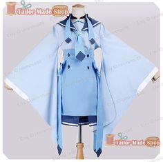 Pokemon Glaceon Kimono Cosplay Costume Blue by Diy Costumes, Cosplay Costumes, Halloween Costumes, Cosplay Ideas, How To Make Shoes, Kimono Dress, Bright Stars, Magical Girl, Custom Clothes