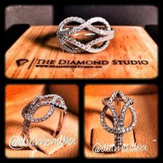 My client has been friends with this girl for 5 years, he has determined recently that he has fallen in love with her. He didn't know how to tell her. Because she loves my work, he felt it would be the ideal way.  I could feel his love for her and I needed to help him out. He wanted to create a love knot ring. He's going to give it to her today, and he will tell her that he loves her. #diamond #diamonds #promisering #ring #rings #jewellery #jewelry #thediamondstudio