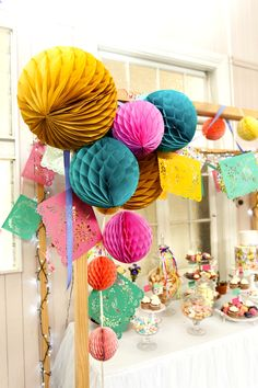 A Bright Summer Fiesta with lots of DIY decorations and desserts table ideas