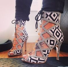 These are wild! I think they'd be cuter with a solid white or maybe black summer a- line dress.