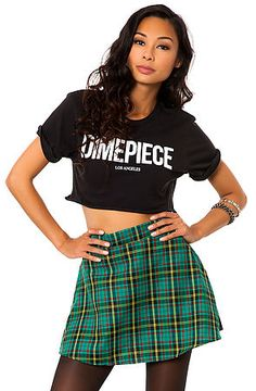 O-Mighty Skirt The Grunge Plaid in Green $39