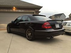 2005 Mercedes-Benz W211 E55 AMG   BENZTUNING Mercedes Clk 350, E63 Amg, Cars And Motorcycles, Classic Cars, Automobile, Shake, Wheels, German, King