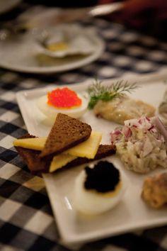 Lunch at the seafood market, Stockholm, Sweden
