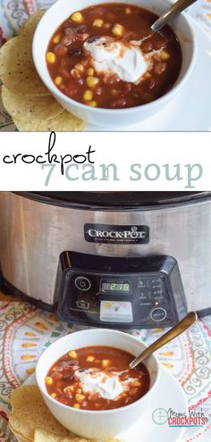 It doesn't get any easier than this healthy crockpot recipe! Check out this super simple Crockpot 7 Can Soup. This one offers a dairy free version too!