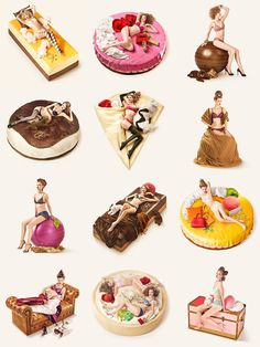 Autumn dolce PEACH JOHN Peach John, Lindsey Wixson, Food Drawing, Food Illustrations, Food Design, Drawing Reference, Pin Up Girls, Monet, Painting Inspiration