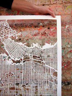 paper-cut maps