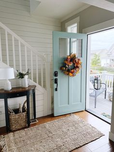 Decorating Our New Front Porch and Entry for Fall - The Inspired Room