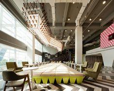 Colorful & Interactive Multi-Level Lounge Design at Bangkok University