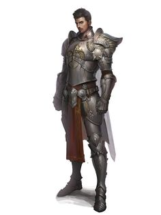 Male Human Fighter or Paladin- Armor