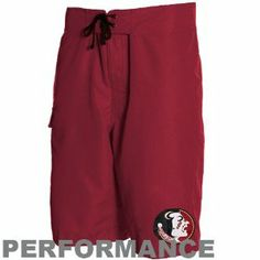 """Columbia Florida State Seminoles (FSU) Garnet Angler Champion Performance Boardshort by Columbia. $43.99. Side pocket with hook and loop fastener closure. Tie front with four grommets. Omni-Shade UPF 30 material provides excellent UV protection from the sun. Screen print graphics. 23"""" Outseam. Hook the perfect team look for outdoor fun with these Angler Champion performance boardshorts by Columbia! They feature a large printed team logo and Omni-Shade fabric that provides..."""