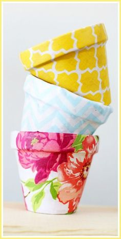 How to make your own DIY Fabric Pots - step by step tutorial! - - Sugar Bee Crafts