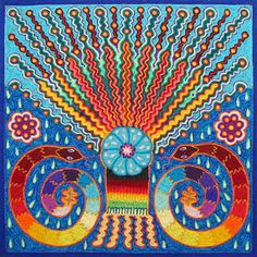 Mexican folk art: the yarn paintings of the huichol, inspired by peyote Indigenous Art, Folk Art, Native American Art, Bead Art, Art, Mexican Folk Art, Huichol Art, Yarn Painting, Sacred Art